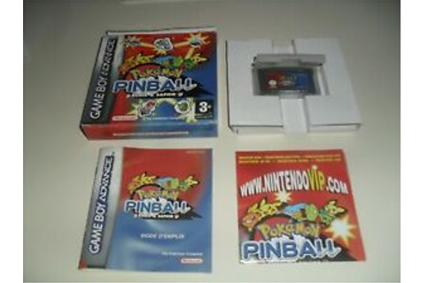 pokémon pinball rubis et saphir FRA game boy advance | eBay