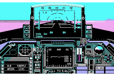 Falcon vehicle simulation for DOS (1987) - Abandonware DOS
