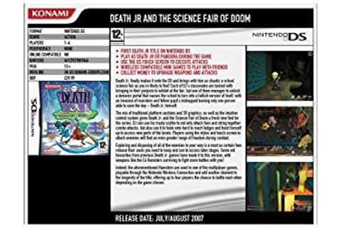 Games - Death Jr. and the Science Fair of Doom (Nintendo ...