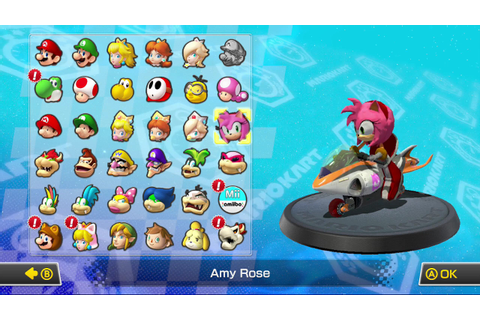 Amy Rose [Mario Kart 8] [Works In Progress]
