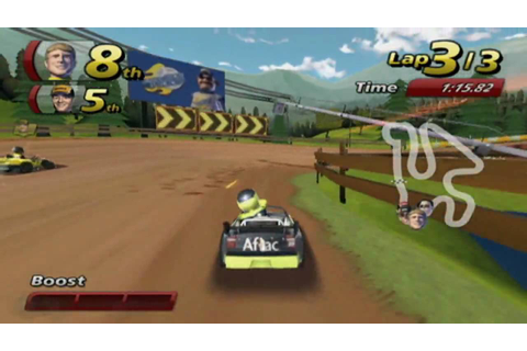 NASCAR Kart racing HD video game trailer - Nintendo Wii ...