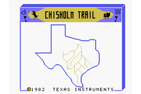 TI-99/4A home computer CHISHOLM TRAIL video game