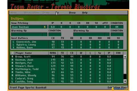 Front Page Sports: Baseball Pro '95 download PC
