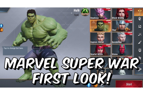 Marvel Super War First Look! - New Marvel MOBA 2019 - Free ...