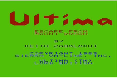 Download Ultima: Escape from Mt. Drash (VIC-20) - My ...