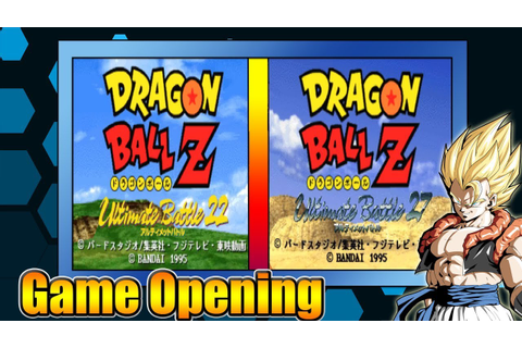 Dragon Ball Z Ultimate Battle 22 & 27 [PS1] - Game Opening ...