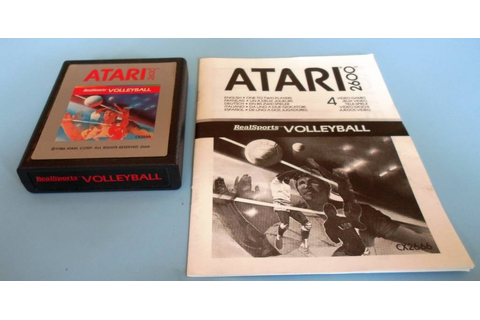 REALSPORTS VOLLEYBALL for Atari 2600 - with box & manual ...