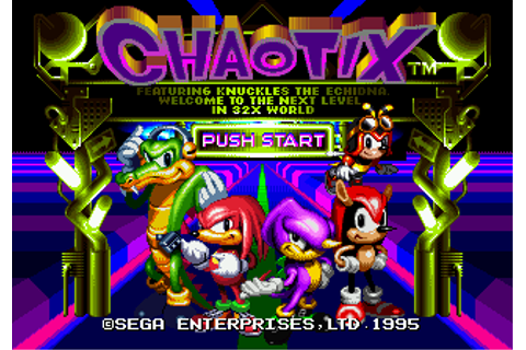 Knuckles' Chaotix (Video Game) - TV Tropes