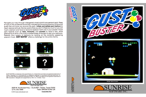 Colecovision Box Art - Gust Buster