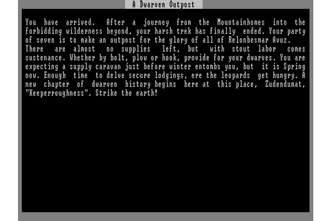Slaves to Armok: God of Blood - Chapter II: Dwarf Fortress ...