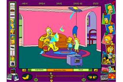 Simpsons Cartoon Studio, The Download (1996 Educational Game)