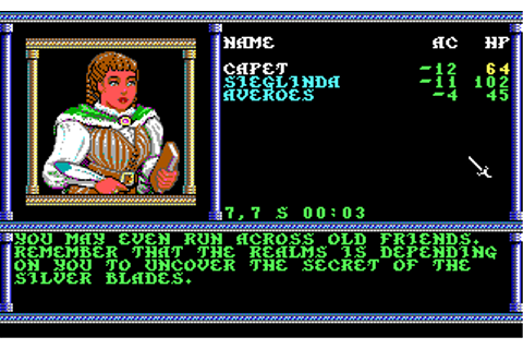 Secret of The Silver Blades | Old DOS Games | Download for ...