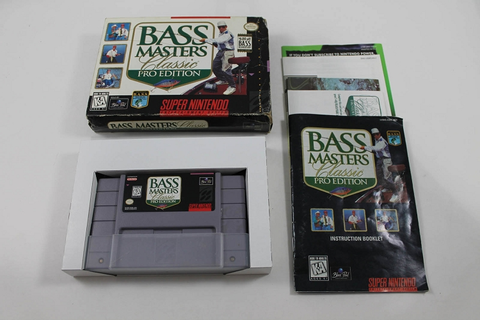 BASS MASTERS CLASSIC PRO EDITION- COMPLETE SUPER NINTENDO SNES Game!
