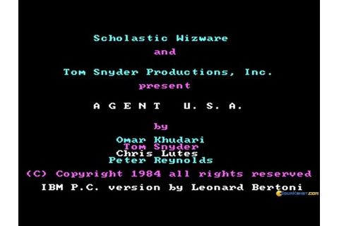 Agent USA gameplay (PC Game, 1984) - YouTube