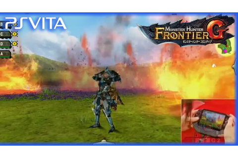 PS Vita - Monster Hunter Frontier G | Stage Demo Gameplay ...