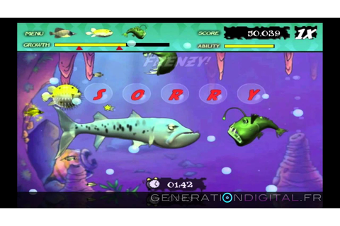 Feeding Frenzy online game- GamePlay - YouTube