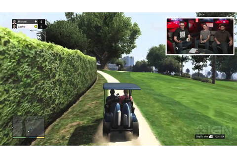 GTA 5: Playing Golf - IGN Live - YouTube