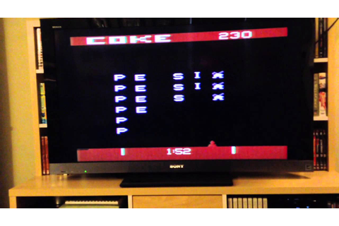 Pepsi Invaders / Coke Wins Atari 2600 game cartridge - YouTube
