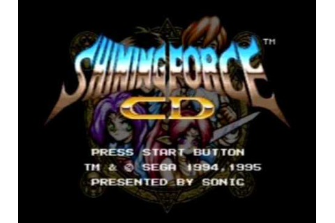 Shining Force CD Game Music: Track 22 - YouTube