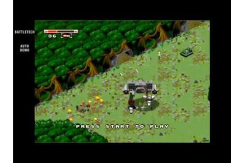 BattleTech / auto demo / Sega Genesis 1994 - YouTube