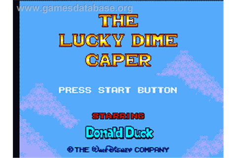 Lucky Dime Caper starring Donald Duck - Sega Game Gear ...