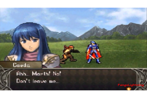 Fire Emblem Shadow Dragon - Marth's Death (Game Over Scene ...