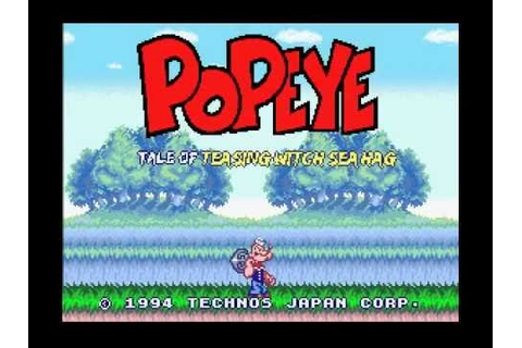 SNES Longplay [128] Popeye The Sailor Man: Tale of the Sea ...