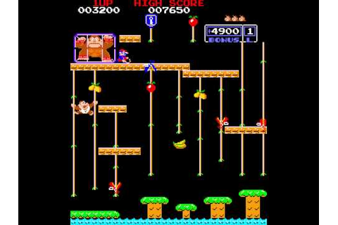 Arcade Game: Donkey Kong Junior (1982 Nintendo) - YouTube