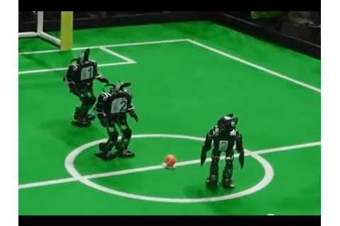 Humanoid mini robot soccer Robocup 2013 Holland ( WK games ...