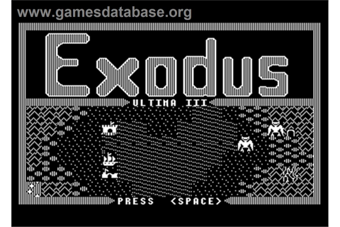 Ultima III: Exodus - Atari 8-bit - Games Database