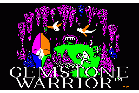 Gemstone Warrior (1984) by Paradigm Creators Apple II E game