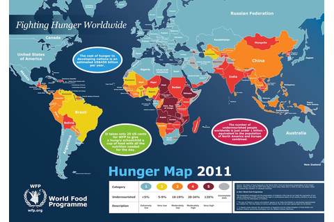 World Hunger Map 2011 | The Hunger Games of Today