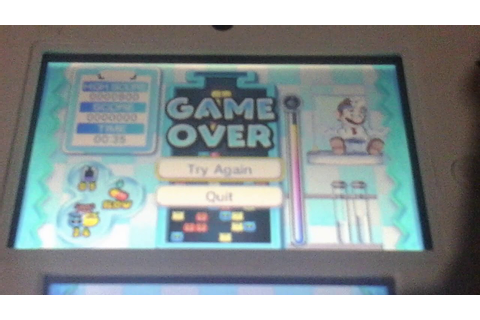 Dr mario miracle cure game over screen - YouTube