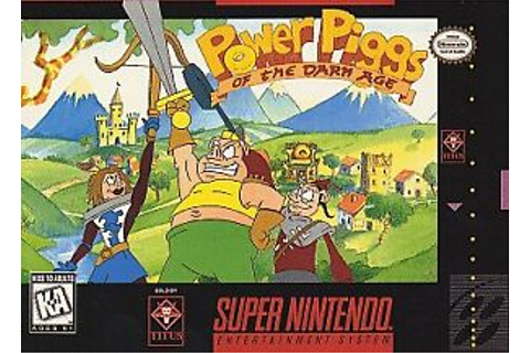 Details about ***POWER PIGGS OF THE DARK AGE SNES SUPER NINTENDO GAME ...