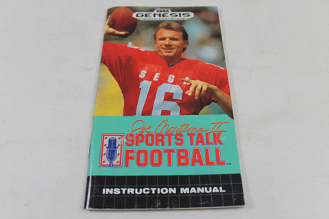 Manual - Joe Montana II Sports Talk Football - Sega Genesis