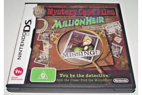Mystery Case Files Millionheir Nintendo DS 3DS Game ...