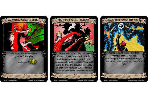 Let's Kill Krampus: A Dark Comedy, Card Game RPG by Three ...
