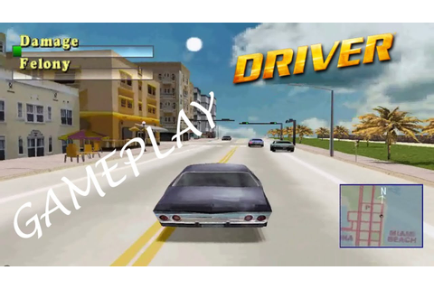 Driver (1999, PS1) Miami Gameplay - YouTube