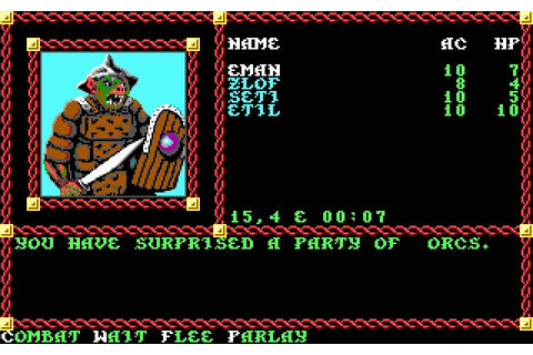 Download Pool of Radiance rpg for DOS (1988) - Abandonware DOS