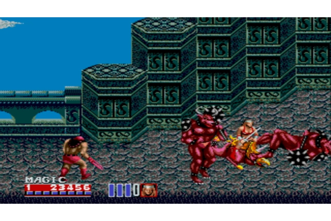 Sega Megadrive / Genesis - Golden Axe 2 Game - YouTube