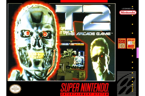 T2 The Arcade Game SNES Super Nintendo