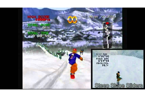Steep Slope Sliders VS. Zap! Snowboarding Trix - Sega ...