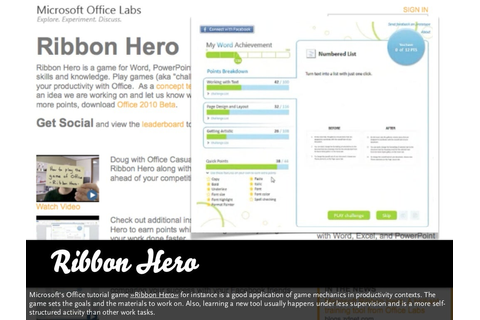 Ribbon Hero Microsoft's Office tutorial