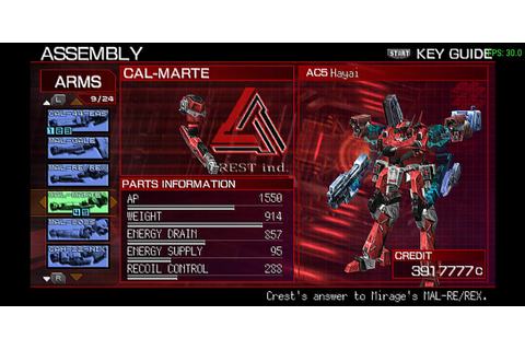Armored Core 3 Portable (USA) (PSN) ISO Download