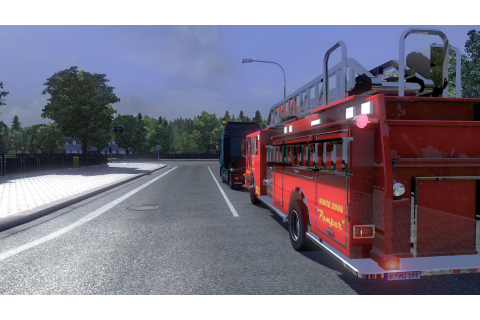 Blaze fire truck from the game Saints Row 3 in traffic ...