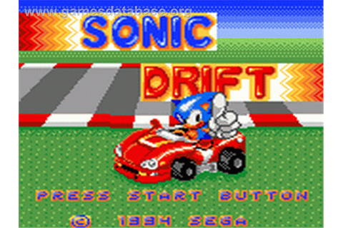 Sonic Drift - Sega Game Gear - Games Database