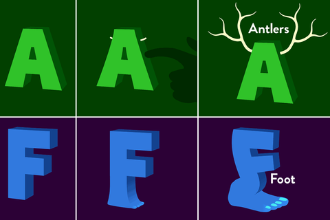 Alphabet learning games: Metamorphabet got me at Antlers ...