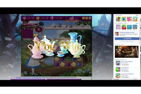 Wonderland Dream | Game | Facebook | Tutorial - YouTube