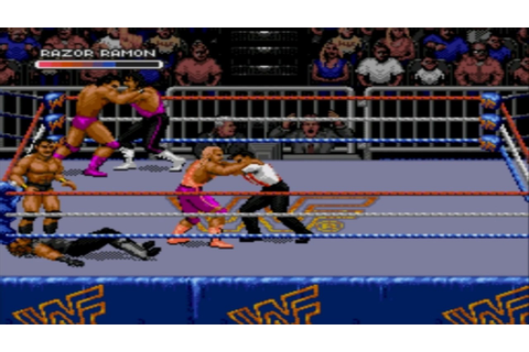 Sega Megadrive / Genesis - WWF Royal Rumble Game - YouTube