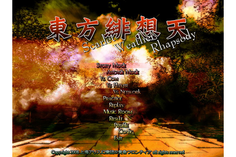 PC Game - Scarlet Weather Rhapsody - Touhou 10.5 Full ...